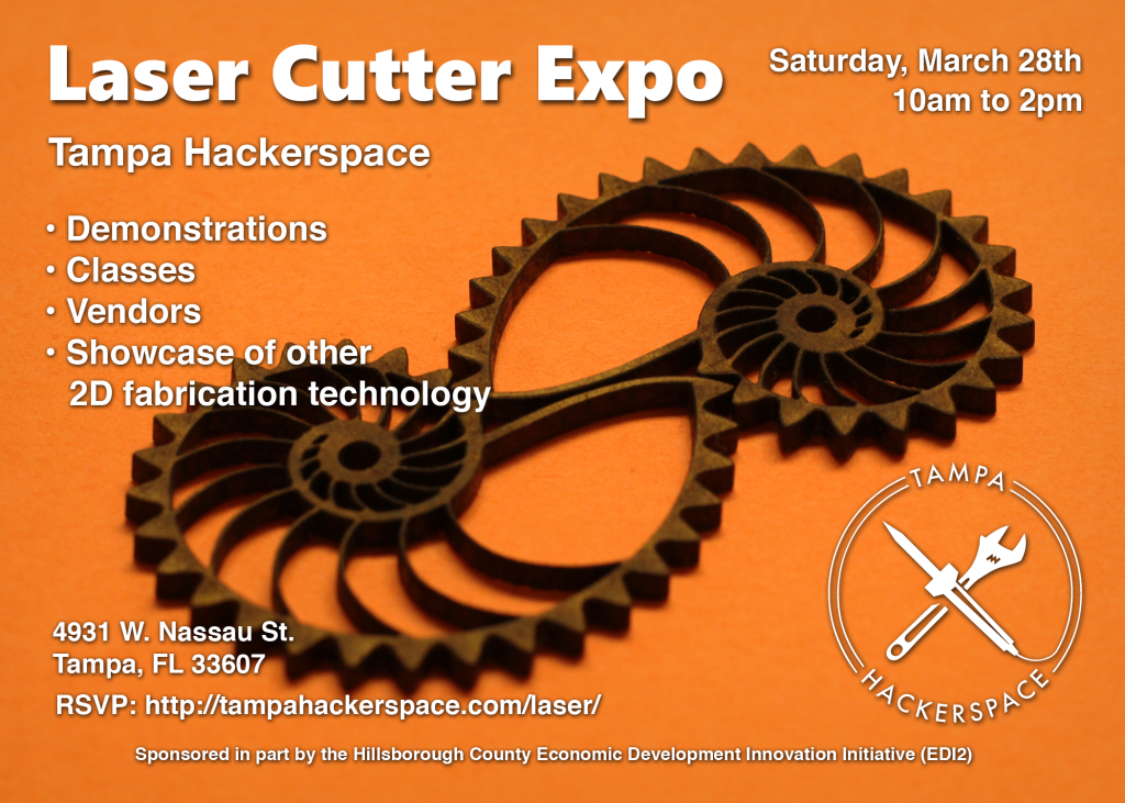 Laser Cutter Expo March 28th